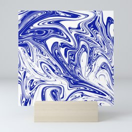 Marble,liquified graphic effect decor Mini Art Print