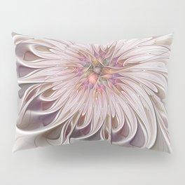 Floral Beauty, Abstract Fractal Art Pillow Sham