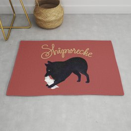 Shipwrecke (Red and Beige) Rug