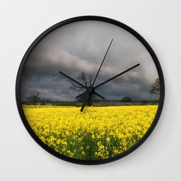 Passing storm Wall Clock