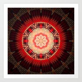 Red Wine Mandala Art Print