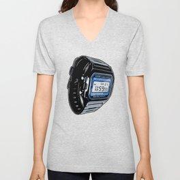 Casio F-105 Digital Watch Unisex V-Neck