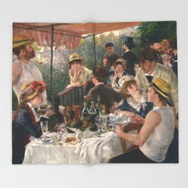 Auguste Renoir - Luncheon of the Boating Party (Le déjeuner des canotiers) Throw Blanket