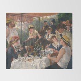 Auguste Renoir - Luncheon of the Boating Party (Le déjeuner des canotiers) Throw Blanket