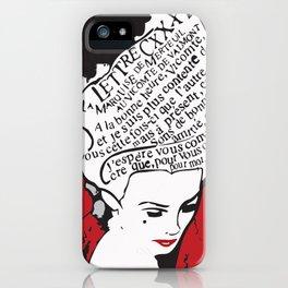 La Marquise de Merteuil - Dangerous Liaisons iPhone Case