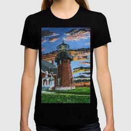 Block Island South Lighthouse Painting T-shirt