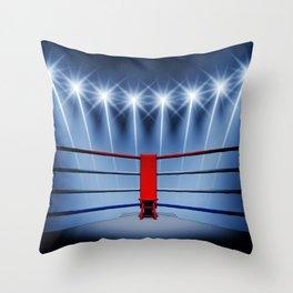Boxing arena Throw Pillow