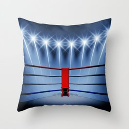 Boxing arena Throw Pillow