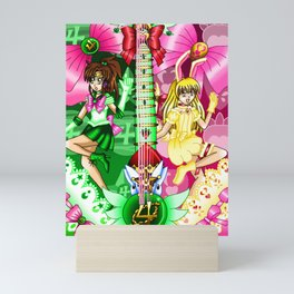 Sailor Mew Guitar #41 - Sailor Jupiter & Mew Berry Mini Art Print