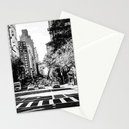 New York City Streets Contrast Stationery Cards