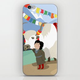 A child and his best friend iPhone Skin