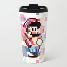 Super Mario Pixel Cubism Travel Mug