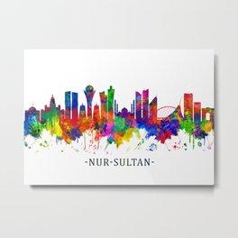 Nur-Sultan Kazakhstan Skyline Metal Print