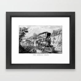 The Express Train: Currier & Ives 1870 Framed Art Print