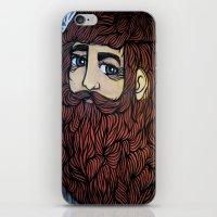 beard iPhone & iPod Skins featuring beard by Deerabigale