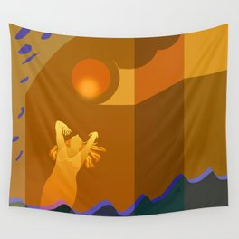 Golden Moments Wall Tapestry
