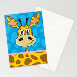 Cute Cartoon Giraffe Stationery Cards