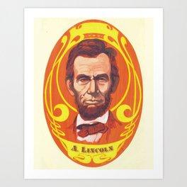 Day-Glo Lincoln Art Print