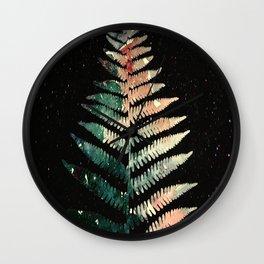 Watercolour Fern Leaf Wall Clock