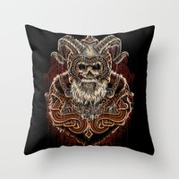 viking Throw Pillows featuring VIKING by Demones