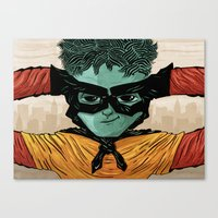 superheroes Canvas Prints featuring Superheroes SF by Victor Beuren