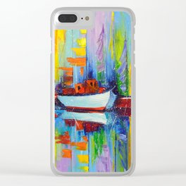 Sailboats berth Clear iPhone Case