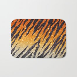 Tiger Shout Glitter Stripe Bath Mat