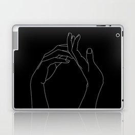 Hands line drawing illustration - Abi black Laptop & iPad Skin