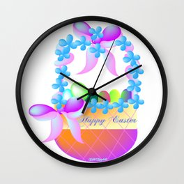 """ Easter Basket "" Wall Clock"