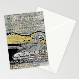 Yellow mountains Stationery Cards