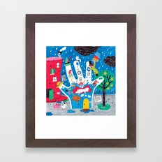the glove and the hat maker Framed Art Print