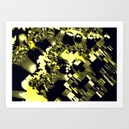 map of fractasia Art Print