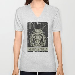 Houston - we have a Problem Unisex V-Neck