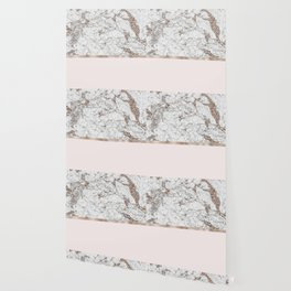 Gleaming rose gold blush Wallpaper