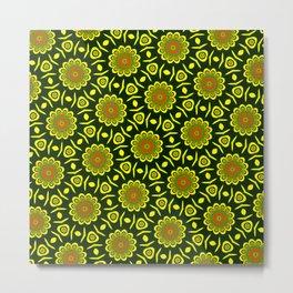 Cute ethnic floral pattern Metal Print
