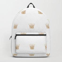 Golden Crown Pattern Backpack