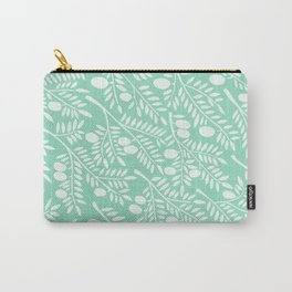 Mint Olive Branches Carry-All Pouch