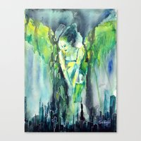 sin city Canvas Prints featuring Sin City by Beata Belanszky Demko