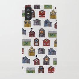 Barn Quilt Illustration iPhone Case