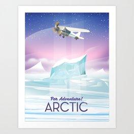 Arctic frozen flight poster. Art Print