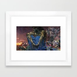 Mikhail Vrubel - Demon Framed Art Print