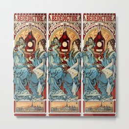 "Alphonse Mucha ""Bénédictine"" Metal Print"