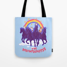 Four Horsemittens Of The Meowpocalypse Tote Bag
