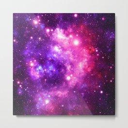 Purple Pink Galaxy Nebula Metal Print