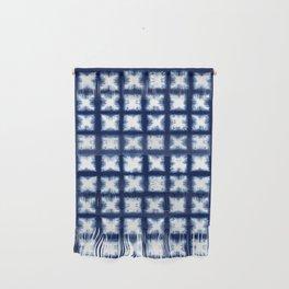 Indigo Shibori Granny Squares Wall Hanging