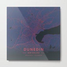 Dunedin, New Zealand - Neon Metal Print