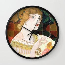 La Fumeuse by Georges de Feure - Art Nouveau Vintage Retro Poster Wall Clock