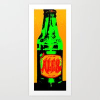 ale giorgini Art Prints featuring Ale-8-One (Bottle) by Silvio Ledbetter