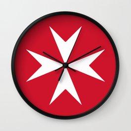 Maltese Cross Flag Wall Clock