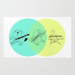 Keytar Platypus Venn Diagram Rug